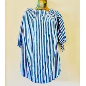 White and Blue Stripped Tunic